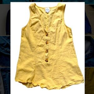 Princess Polly yellow romper size 8